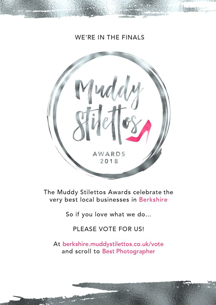 Bexboater Photography is a finalist in the Muddy Stiletto Awards 2018 - best photographer in Berkshire